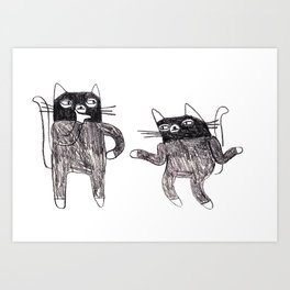 Cat Burglars Art Print