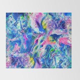 Bathbomb, fluid art, psychedelic art, trippy, psytrance, lsd, acid Throw Blanket