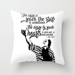 Reach for the Stars and Hearts Throw Pillow