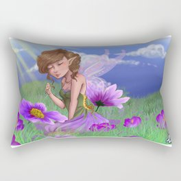 Violet Meadows Rectangular Pillow