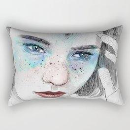 Third eye girl sketch Rectangular Pillow