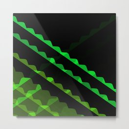 Outta Contexture #1 (rolling green pattern) Metal Print