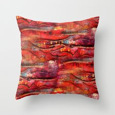 Vivid Autumn Textures Throw Pillow