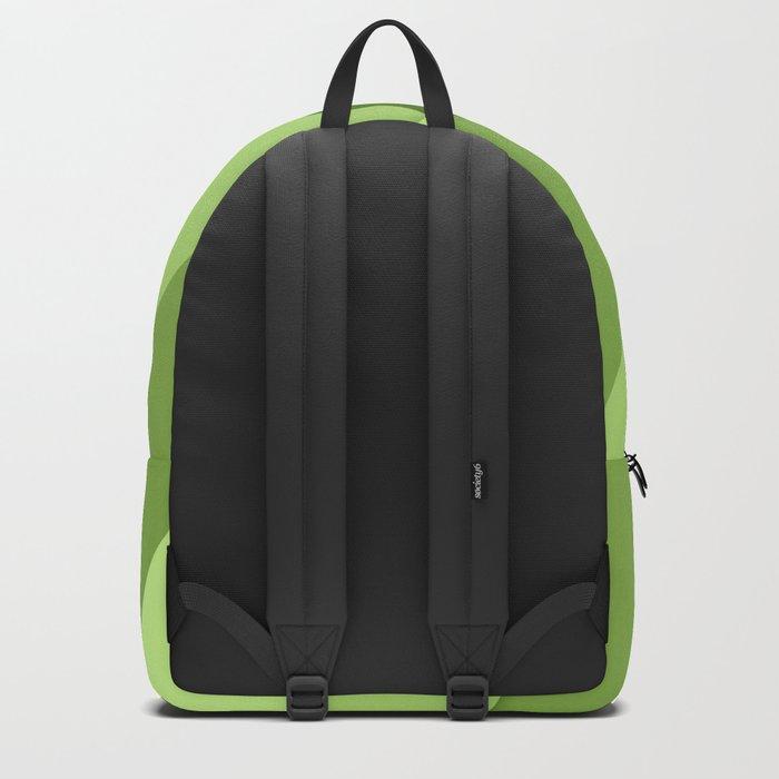 Greenery modern geometric lines Backpack