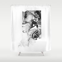 indiana Shower Curtains featuring Indiana by PearlStDesignCo