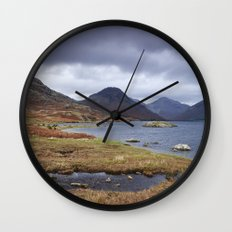 Rain clouds over Scafell and Great Gable. Wastwater, Cumbria, UK. Wall Clock