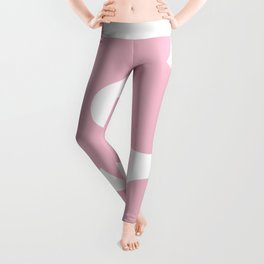 Soft baby pink abstract flowers Leggings