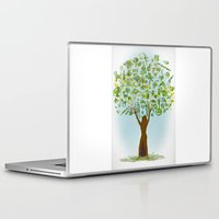 tree of life Laptop & iPad Skins featuring Life tree by Michelle Behar
