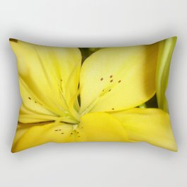 Yellow Tiger Lily Rectangular Pillow