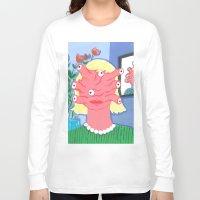 women Long Sleeve T-shirts featuring women by Alejandra Hernandez