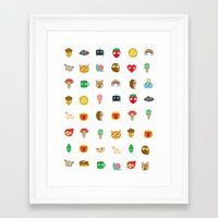kawaii Framed Art Prints featuring Kawaii by heidi kenney