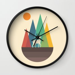 Step Of Autumn Wall Clock