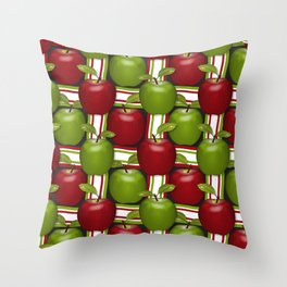 Apples Composition Throw Pillow