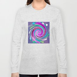 Purple twirl Long Sleeve T-shirt