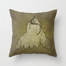 Skink + Lions Mane Throw Pillow