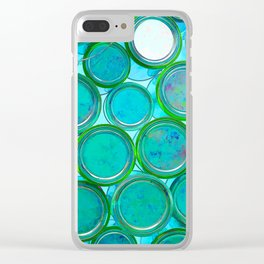 Turqoise Circles by Lika Ramati Clear iPhone Case