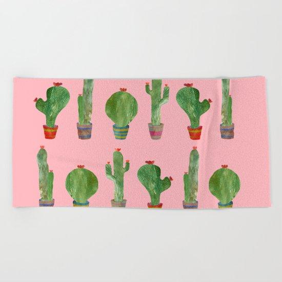 Cactus Pink!! Beach Towel