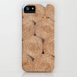 Fox on a haystack iPhone Case