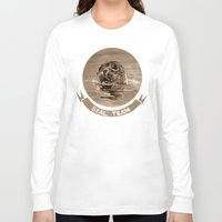 seal Long Sleeve T-shirts featuring seal - sepia by ARTito