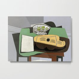 Pablo Picasso Guitar with Music Sheet, 1924 Artwork Metal Print