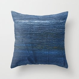Metallic blue abstract watercolor background Throw Pillow