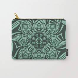 Mint Mandala with Bold Lines Carry-All Pouch