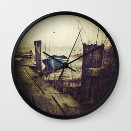 Rugged fisherman Wall Clock