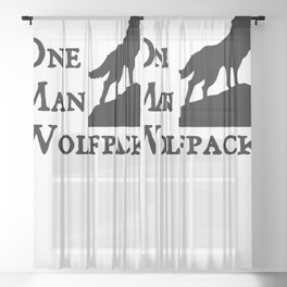 One Man Wolf Pack Sheer Curtain