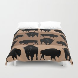 Bison Pattern Duvet Cover
