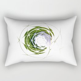 Olive Leaves in Circle Rectangular Pillow