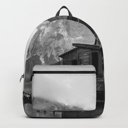 House on Water (Black and White) Backpack