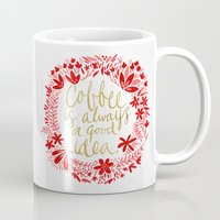 coffee Mugs featuring Coffee by Cat Coquillette