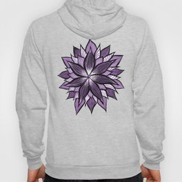 Purple Mandala Like Abstract Flower Hoody