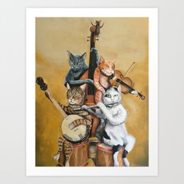 Cat Quartet Art Print