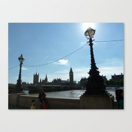 London Lamps Canvas Print
