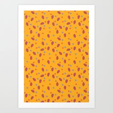 yellow dotty Art Print