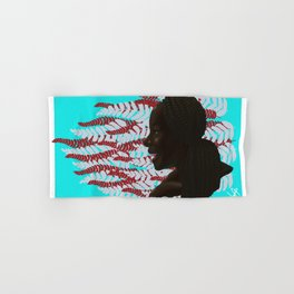 Black woman with braids floral Hand & Bath Towel