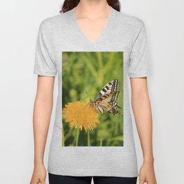 The Old World swallowtail (Papilio machaon) Unisex V-Neck