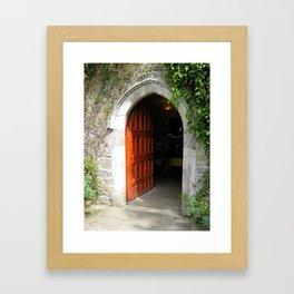 Through The Red Door Framed Art Print