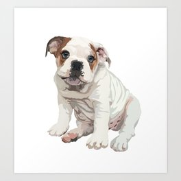 The English Bulldog Art Print