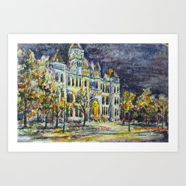 Carthage Courthouse in Ink Art Print