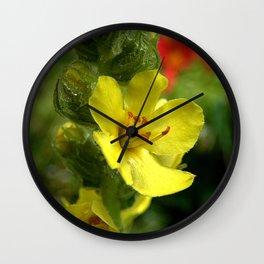 Yellow wildflower 15 Wall Clock
