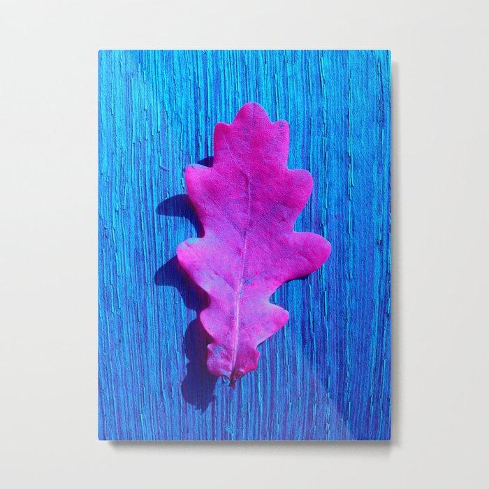 pink leaf XI Metal Print