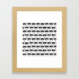 Infinite Typewriter_Black and White Framed Art Print