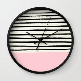 Millennial Pink x Stripes Wall Clock