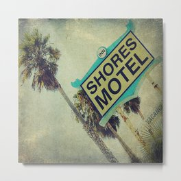 Shores Motel Sign Metal Print
