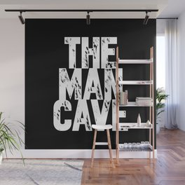 The Man Cave - inverse Wall Mural