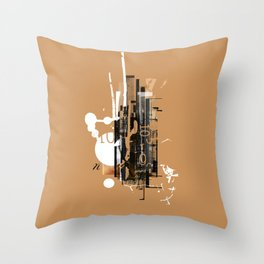 """Four Tet"" Graphic Art Print Throw Pillow"