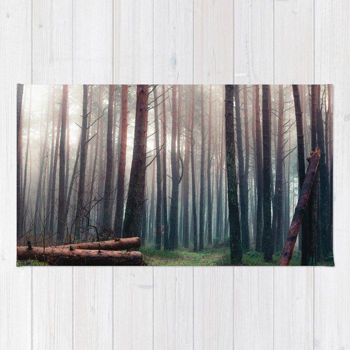 Foggy Woods Rug