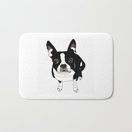 Boston Terrier Cutie Bath Mat
